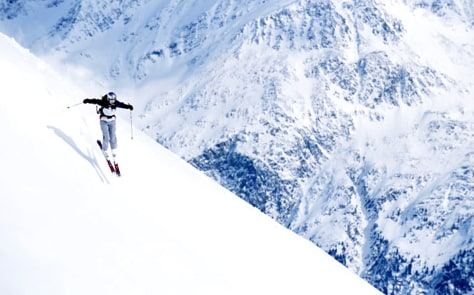 Image: A skier's descent