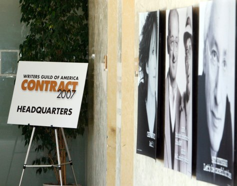 Image: Writers Guild contract headquarters