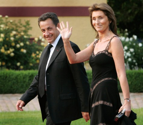 Image: Nicolas Sarkozy and his wife Cecilia