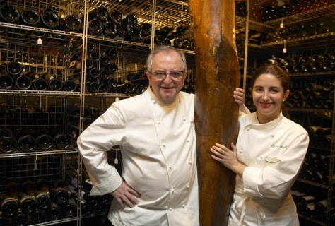 Image: Chef and daughter