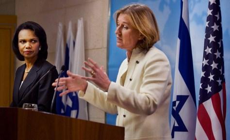 Image: Tzipi Livni, Condoleezza Rice