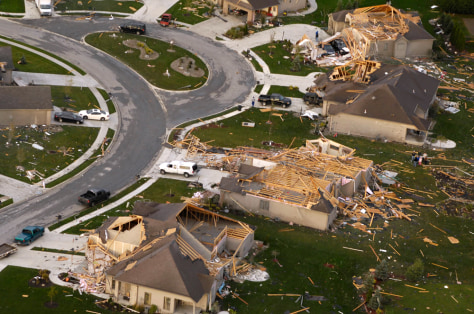IMAGE: DESTROYED HOMES IN INDIANA