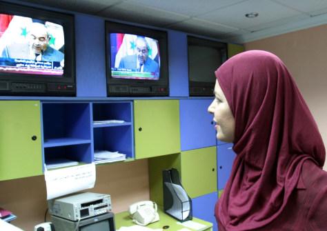 Image: Al-Jazeera correspondent at the Baghdad bureau.