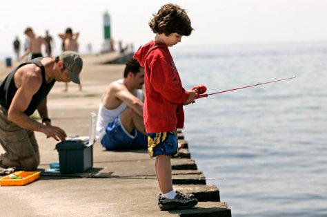 Image: Boy fishing