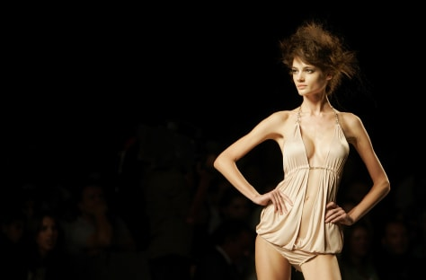 Image: Spanish fashion show model