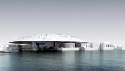Image: Image of Louvre museum in Abu Dhabi