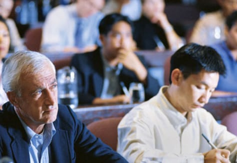Image: Older man in class