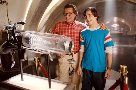 "Michael Angarano and Kurt Russell in ""Sky High."""