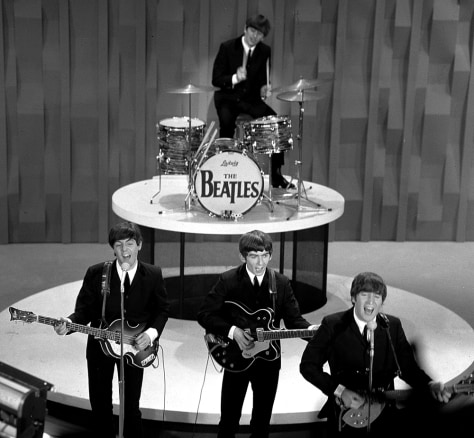 "Image: The Beatles on ""The Ed Sullivan Show"""