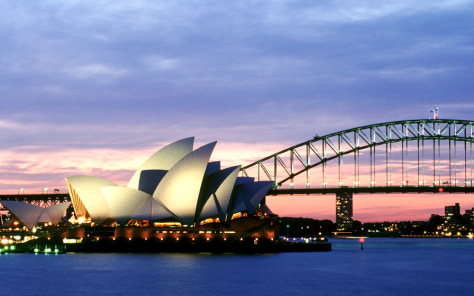 Opera House and Harbour Bridge - Sydney, Australia