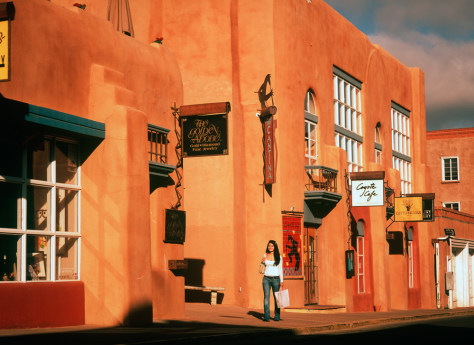 Image: Downtown shopping in Santa Fe.