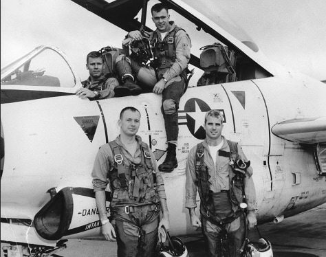 IMAGE: John McCain with his Navy squadron