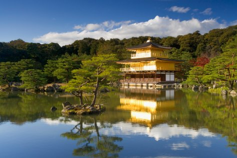 Image: Golden Temple at Waterside, Kyoto Japan