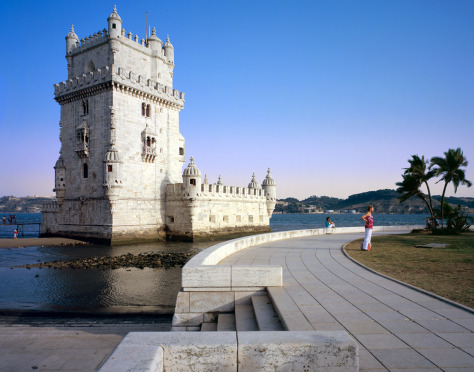 Image: Belem tower on Tagus river, Lisbon, Portugal