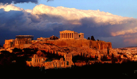 The ancient Parthenon temple, Athens