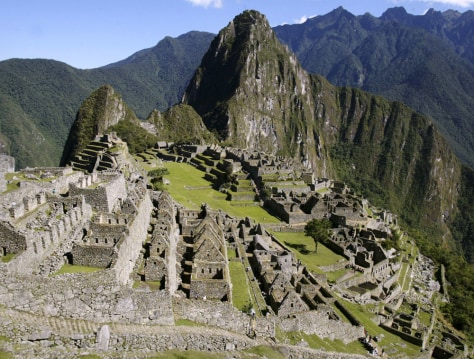 File photo of the Inca Citadel of Machu Picchu in Cuzco