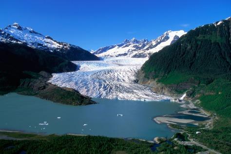 Image: Terminus of Mendenhall Glacier, Juneau, Alaska