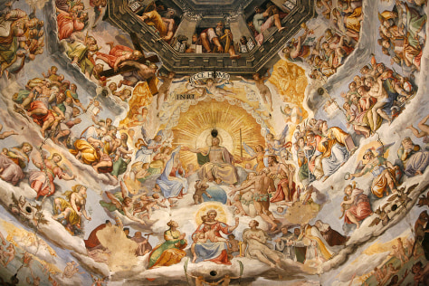 Image: 'Last Judgment' Fresco cycle by Frederico Zuccaro and Giorgio Vasari