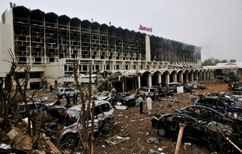 Image: Bombed Marriott hotel