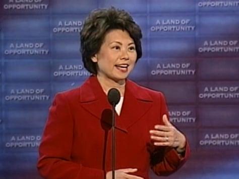 Labor Secretary Elaine Chao