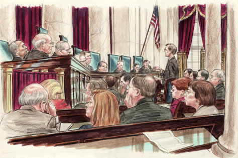 IMAGE: Jeffrey Fisher agues in Supreme Court