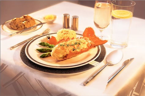Image: Singapore Airlines' lobster thermidor