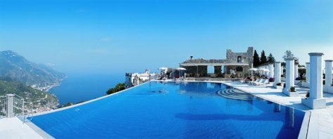 Take a dip in style in the best hotel pools travel for Hotels in ravello with swimming pool