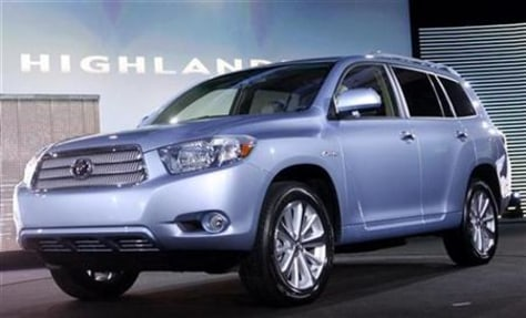 Image: The 2008 Toyota Highlander.