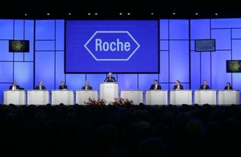 General view of Swiss pharmaceutical company Roche's general annual shareholders meeting in Basel