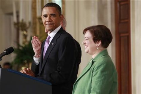 U.S. President Barack Obama and his nominee for Supreme Court Justice, Solicitor General Elena Kagan appear in the East Room