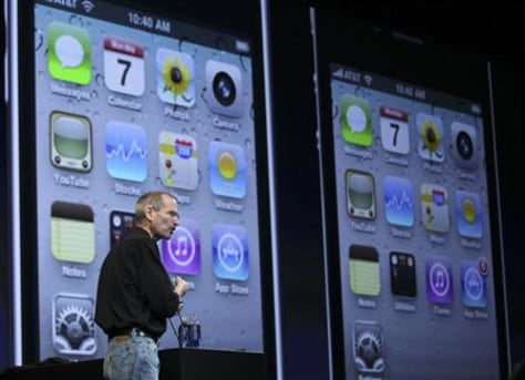 Image: Apple CEO Steve Jobs discusses the new iPhone 4