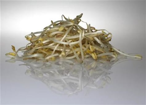 Beansprouts are seen in this picture illustration taken in Berlin