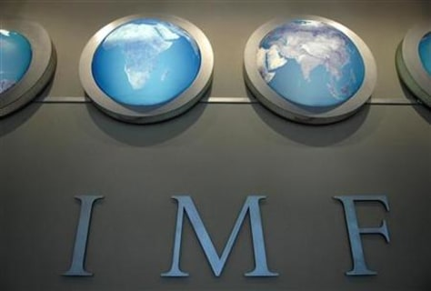 Image: IMF nameplate in Washington