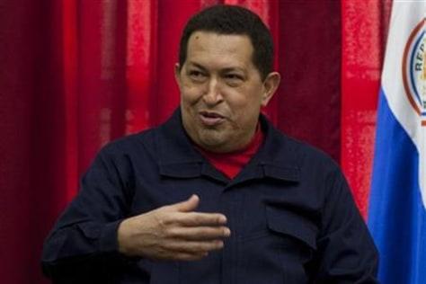 Image: Venezuela's President Hugo Chavez