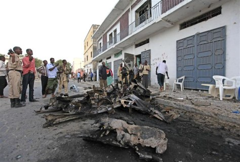 Image: Scene of car bomb