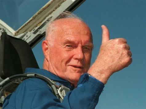 Image: John Glenn in T-38 jet aircraft