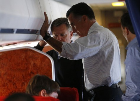 Image: Mitt Romney on plane