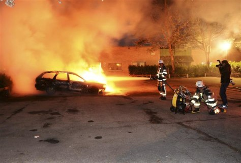 Rioting in the Husby suburb of Sweden's capital, stockholm