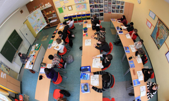 Image: Students in a classroom in Arnsberg, Germany