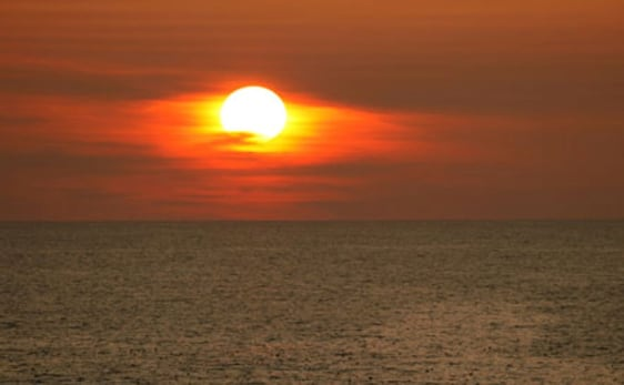Image: Bering Sea sunset