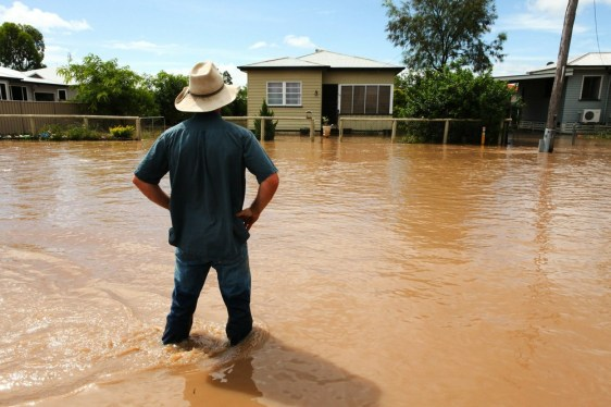 Image: Flooded streets in Dalby, Australia