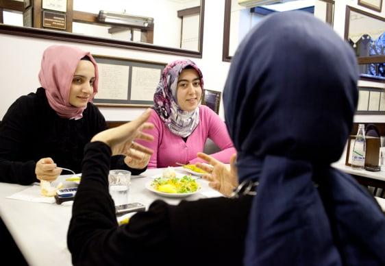 Image: Funda Altintas, Esma Bendez and Fatma Betul Yumuk