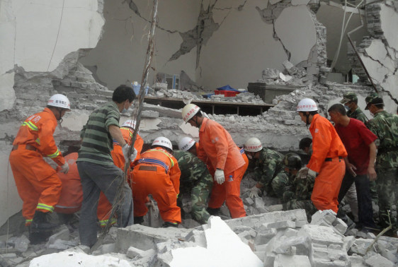 Image: Quake hits south-western China, killing at least 22