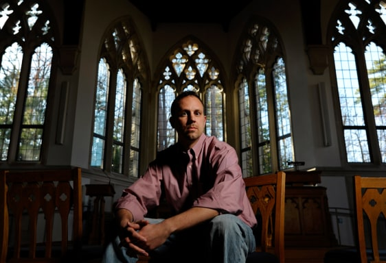 Image: Rev. Chad Holtz poses for a photo in Durham, N.C. Holtz