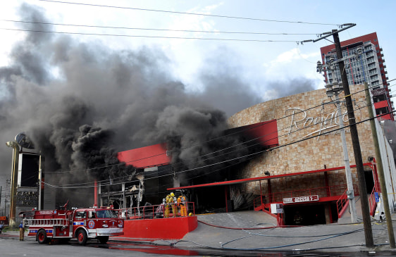 Image: Fire at Casino Royale in Monterrey, Mexico