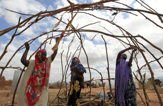 Image: Somali refugees who recently arrived at the Dagahaley camp in Kenya.