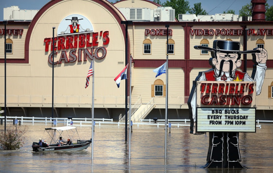 Image: Flooded area around casino