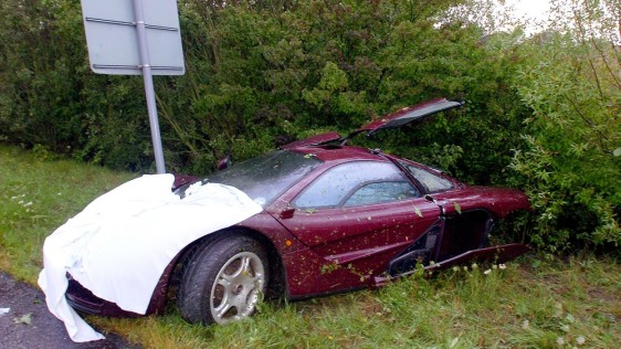 Mr Bean Crashes Million Supercar Today Entertainment