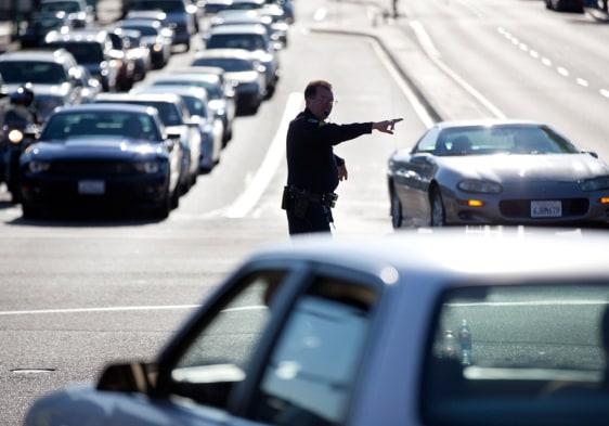 Image: San Diego traffic snarled