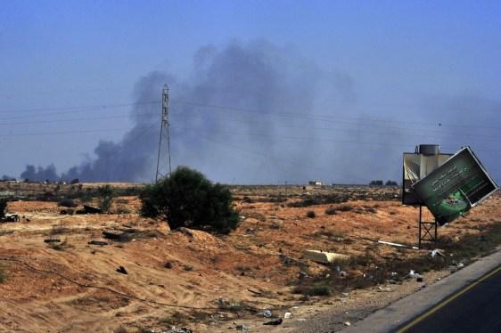 Image: Smoke rises from Sirte